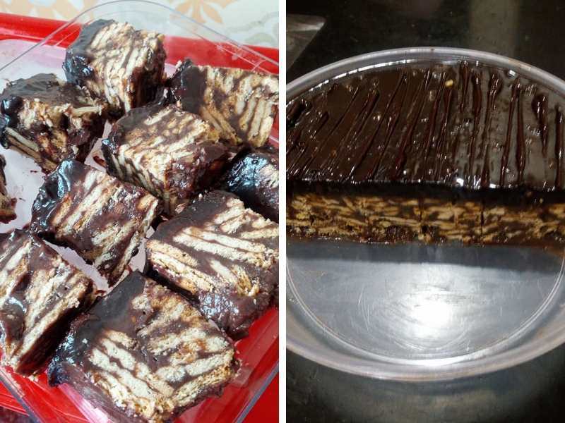resepi kek batik lembut sedap mudah  simple biskut marie milo soya lemon Resepi Kek Guna Gelatin Enak dan Mudah