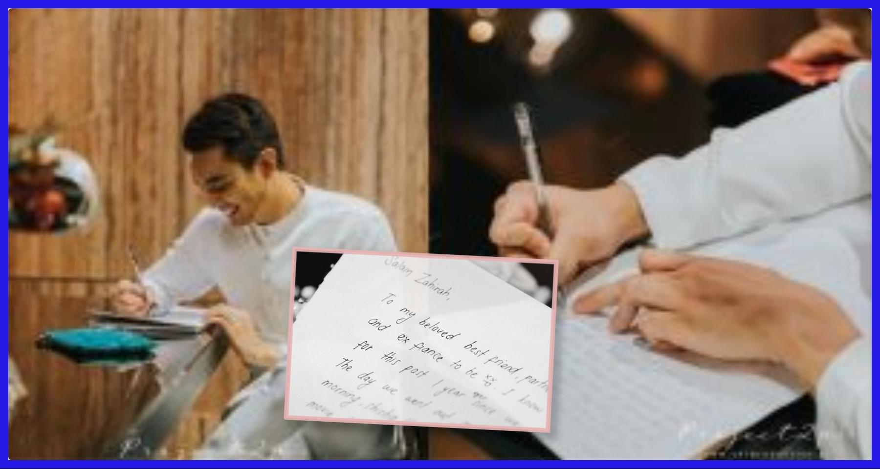 Tulis Surat Cinta Sebelum Nikah, Tlndakan 'Sweet' Aiman ...