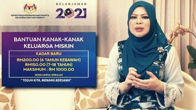 Permohonan Online Bantuan Kanak-Kanak RM1,000 JKM Tahun ...